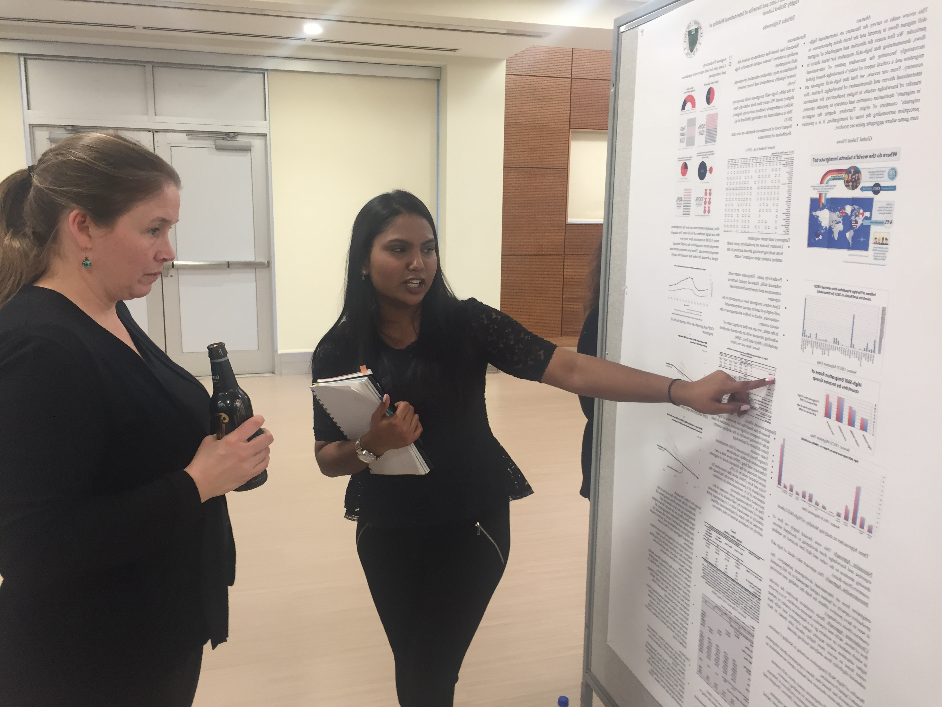 Rithika presenting her research